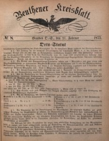 Beuthener Kreisblatt, 1873, No 8