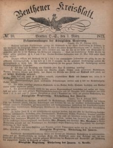 Beuthener Kreisblatt, 1873, No 10