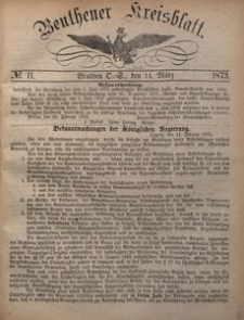 Beuthener Kreisblatt, 1873, No 11