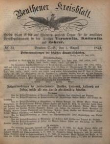 Beuthener Kreisblatt, 1873, No 31