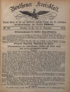 Beuthener Kreisblatt, 1873, No 50