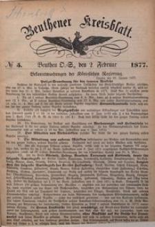 Beuthener Kreisblatt, 1877, No 5