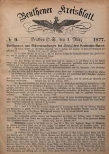 Beuthener Kreisblatt, 1877, No 9