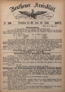 Beuthner Kreisblatt, 1877, No 29