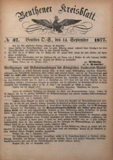 Beuthner Kreisblatt, 1877, No 37