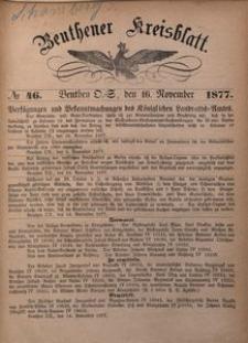 Beuthener Kreisblatt, 1877, No 46