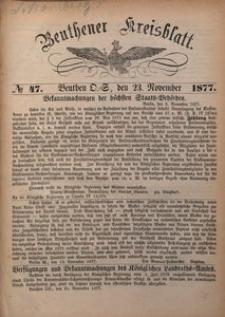 Beuthner Kreisblatt, 1877, No 47