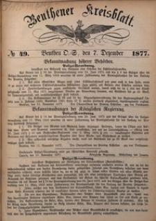 Beuthner Kreisblatt, 1877, No 49