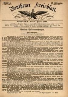 Beuthener Kreisblatt, 1899, Jg. 57, St. 4