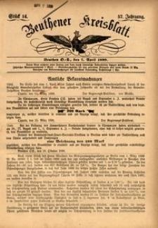 Beuthener Kreisblatt, 1899, Jg. 57, St. 14