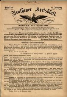 Beuthener Kreisblatt, 1899, Jg. 57, St. 48