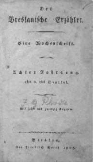 Der Breslauische Erzähler, 1807, Jg. 8, No. 1
