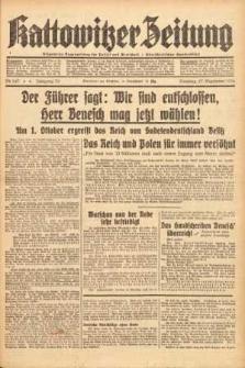 Kattowitzer Zeitung, 1938, Jg. 70, Nr. 247