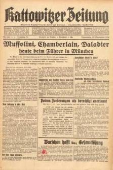 Kattowitzer Zeitung, 1938, Jg. 70, Nr. 249