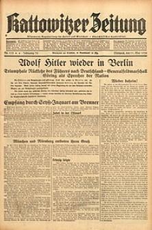 Kattowitzer Zeitung, 1938, Jg. 70, Nr. 113