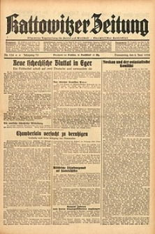 Kattowitzer Zeitung, 1938, Jg. 70, Nr. 134
