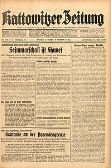 Kattowitzer Zeitung, 1938, Jg. 70, Nr. 152