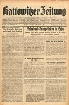 Kattowitzer Zeitung, 1938, Jg. 70, Nr. 157