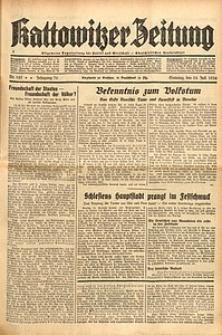 Kattowitzer Zeitung, 1938, Jg. 70, Nr. 183