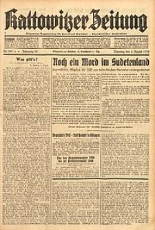 Kattowitzer Zeitung, 1938, Jg. 70, Nr. 199