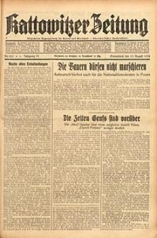 Kattowitzer Zeitung, 1938, Jg. 70, Nr. 203