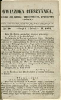 Gwiazdka Cieszyńska, 1852, Nry 10-11