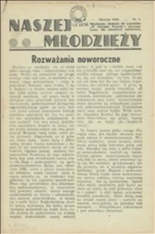 """Naszej Młodzieży : miesięczny dodatek do tygodnika """"W Obronie Prawdy"""" przeznaczony dla młodzieży katolickiej, 1938, Nry 1-4, 6"""