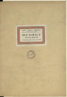 Budżet na Rok 1937/38
