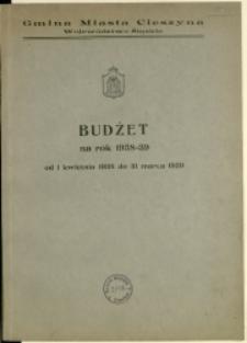 Budżet na Rok 1938/39