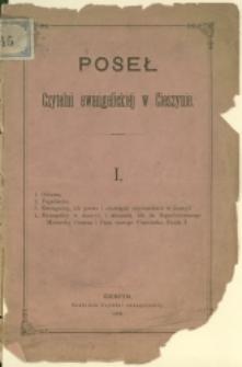 Poseł Czytelni Ewangelickiej w Cieszynie, 1884
