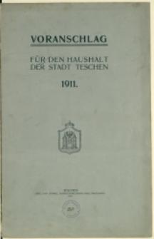 Voranschlag für den Haushalt der Stadt Teschen, 1911