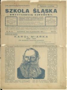 Szkoła Śląska, 1925, Nr19/20