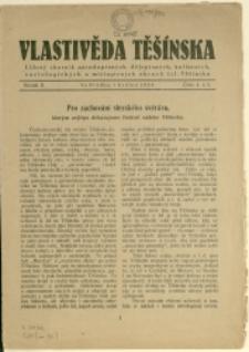 Vlastivěda Těšínska, 1924, Nr 1/2