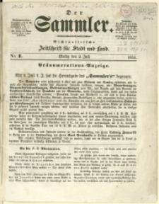 Der Sammler, 1851, Nry 1-17