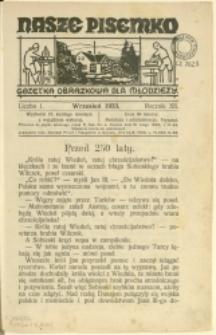 Nasze Pisemko, 1933/1934, Nry 1-6, 8-10