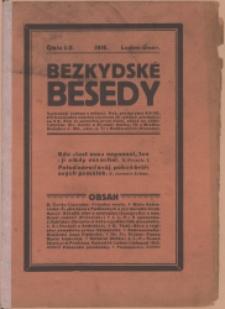 Bezkydské besedy, 1916, Nry 1/2-5/7