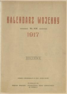Kalendarz Wojenny na Rok 1917