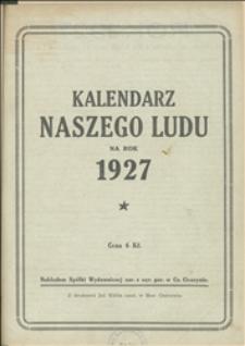 Kalendarz Naszego Ludu na Rok 1927