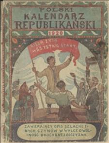 Polski Kalendarz Republikański na rok Pański 1920