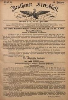 Beuthener Kreisblatt, 1894, Jg. 52, St. 25