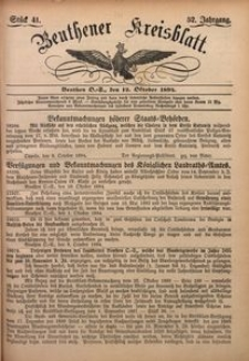 Beuthener Kreisblatt, 1894, Jg. 52, St. 41