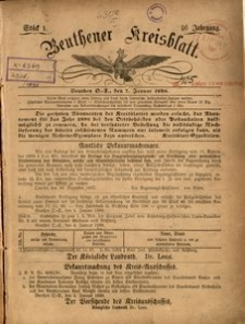 Beuthener Kreisblatt, 1898, Jg. 56, St. 1