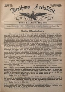 Beuthener Kreisblatt, 1903, Jg. 61, St. 12