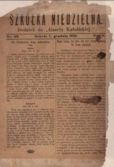 Szkółka Niedzielna. 1901, R. 6, nr 49