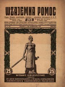 Wzajemna pomoc. Organ związku Metalowców, Hutników i Robotników Fabrycznych Z. Z. P. 1936, R.30, nr 9 i 10