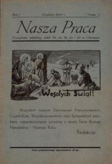 Nasza Praca. 1934, R. 1, nr 5
