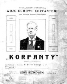 """""""Korfanty"""". Marsz na fortepian. Op. 299"""