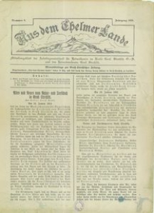 Aus dem Chelmer Lande, 1930, [Jg. 6], nr 9