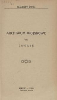 Archiwum Wojskowe we Lwowie