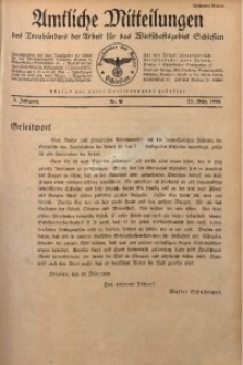 Amtliche Mitteilungen, 1936, Jg. 2, Nr. 9